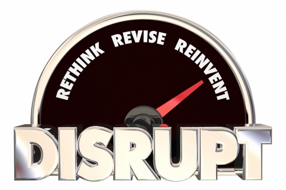 Disrupt Rethink Revise Reinvent Speedometer 3d Illustration