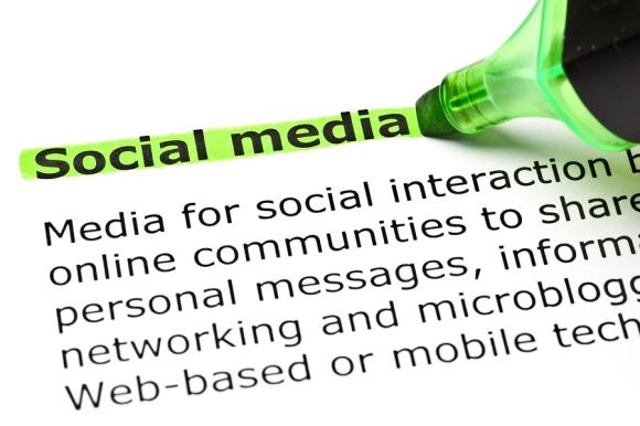 'social Media' Highlighted In Green