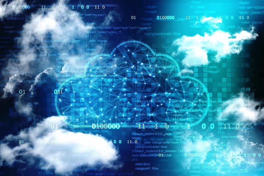 Cloud Computing, Cloud Computing Concept, Cloud Network In Abstr