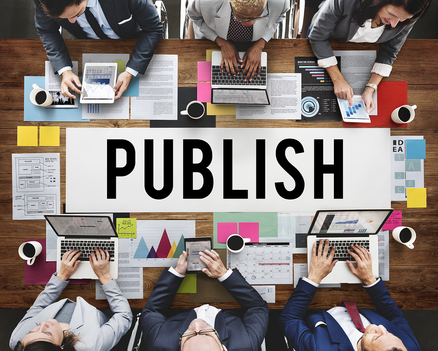 Publish Article Content Media Post Produce Write Concept