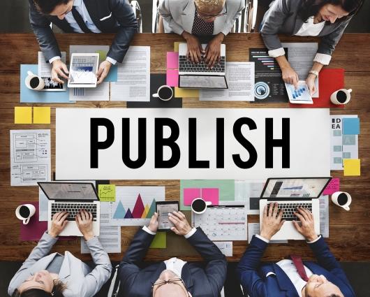 Publish Article Content Media Post Produce Write Concept